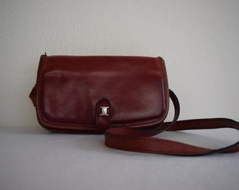 salvation armani vintage red leather purse - shoulder strap - red leather purse - ito new york