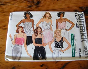 Vintage Uncut Butterick 3031 Misses Semi Fitted Top Sewing Pattern Butterick Size Large 14-20 Top Pattern from The Eclectic Interior