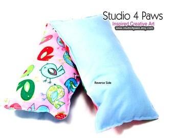 Guinea Pig Luxury Large Pillows - (Pink Birds)