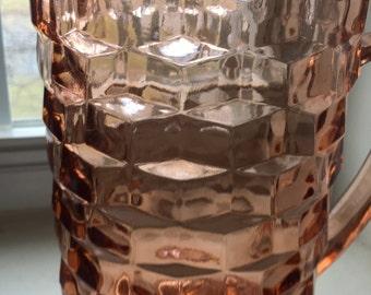 vintage glass pitcher/jug