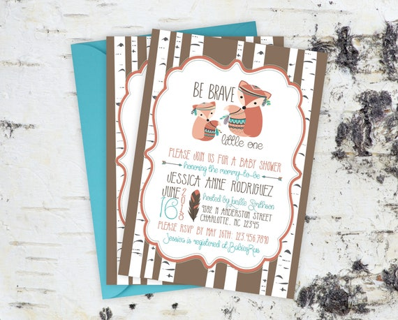 Baby shower invitations woodland baby shower invitations boho il570xn filmwisefo