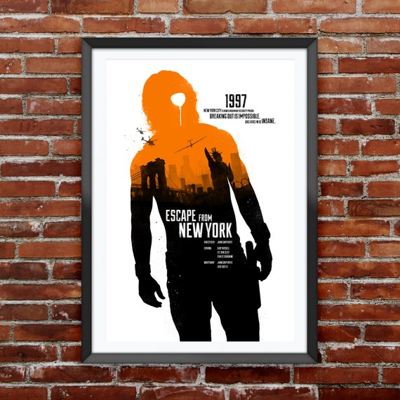 Escape From New York Movie Poster 12X18