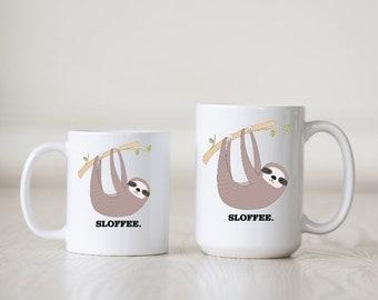 Sloth Coffee Mug - Sloth Mug - SLOFFEE Coffee Mug - 11 oz White Mug