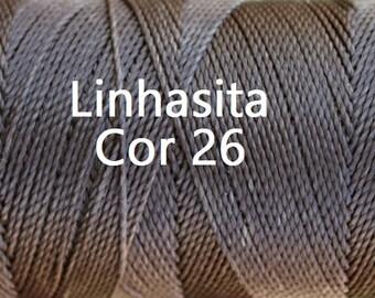 Linhasita Natural Brown Cor 26, Waxed Polyester Macrame Cord/ String/ Hilo/ Spool