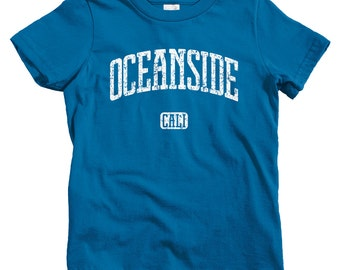 Kids Oceanside California T-shirt - Baby, Toddler, and Youth Sizes - Oceanside Kids Tee, Oceanside Gift, Surfing, San Diego County, Carlsbad