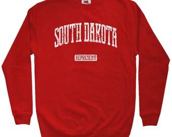 South Dakota Represent Sweatshirt - Men S M L XL 2x 3x - Crewneck, Gift For Men, Her, South Dakota Sweatshirt, Sioux Falls, Rapid City