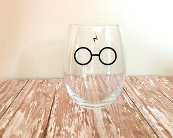 Harry Potter Stemless Wine Glass // Harry Potter Fans // Book Gifts // Funny Wine Glass