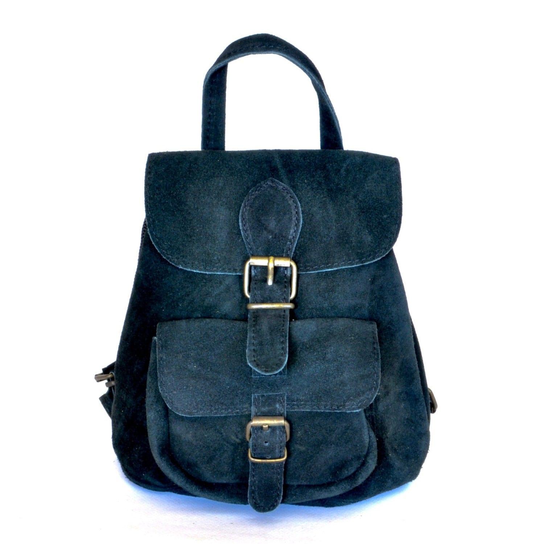 Suede backpack   Etsy