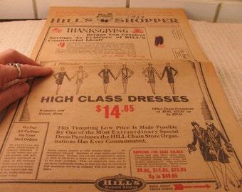 1927 Hill's Shopper Dry Goods store advertising circular