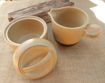 Stoneware Cream and Sugar Set  ~  International Stoneware Japan Cream and Sugar Set  ~  Stoneware Creamer and Lidded Sugar Bowl