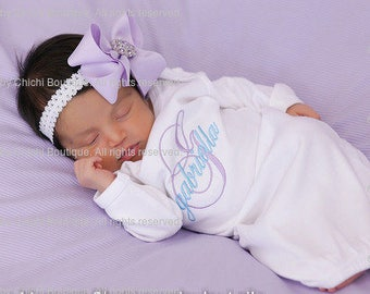 Newborn girl outfit Newborn baby outfits Take home outfit Newborn coming home outfit Newborn gown Baby girl outfit Newborn girl