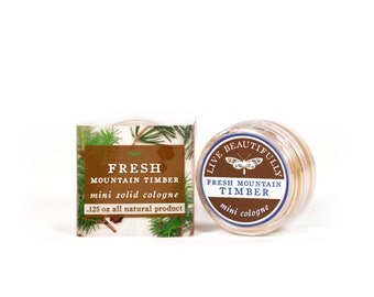 Fresh Mountain Timber Mini Cologne - All Natural - Masculine, Fresh Pine, Earth, Smoky Spice