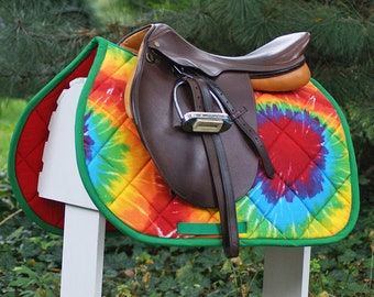 MADE TO ORDER - Tie Dye  Saddle Pad