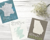 Wedding Table Seating Cards, Travel Themed Table Cards, Country Table Numbers, Wedding Place Cards, Map Table Numbers, Custom Table Numbers