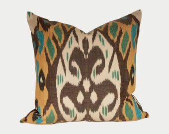 Ikat Pillow, Ikat Pillow Cover a522, Ikat throw pillows, Designer pillows, Decorative pillows, Accent pillows