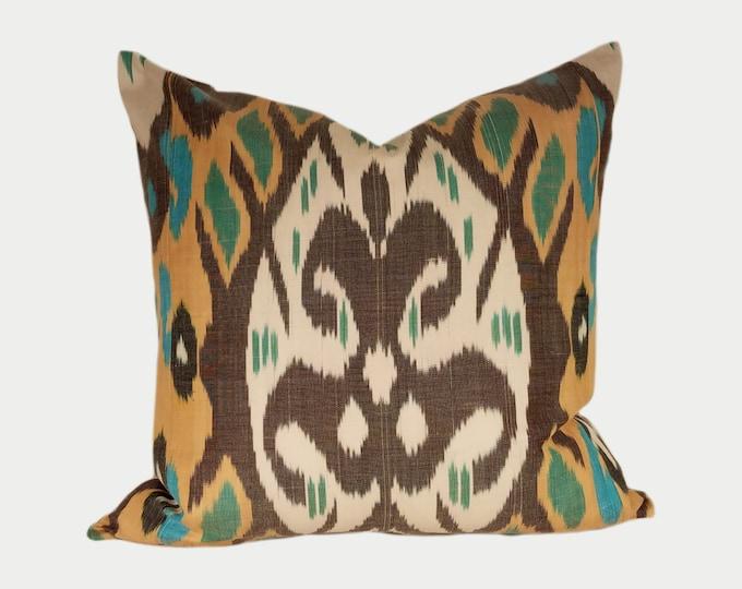 Ikat Pillow, Ikat Pillow Cover a522, Ikat throw pillows, Designer pillows, Decorative pillows, Accent pillows