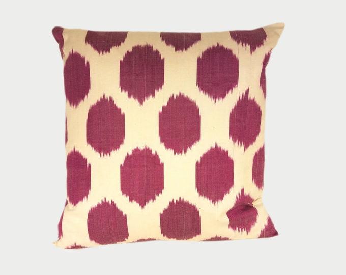 Ikat Pillow, Ikat Pillow Cover NPI11a, Ikat throw pillows, Designer pillows, Decorative pillows, Accent pillows