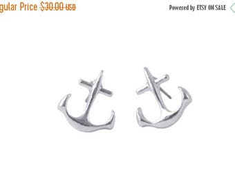 SALE spring clean 75% ANCHOR studs >> inspire << yourself to be the amazing awesome person you already are inside <<  nautical sorority ocea