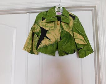 Very Vintage Crop Jacket - Great Design, Great Fabric, Great Style, Great Condition