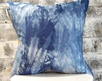 Marbled Marine Navy Shibori Pillow Cover