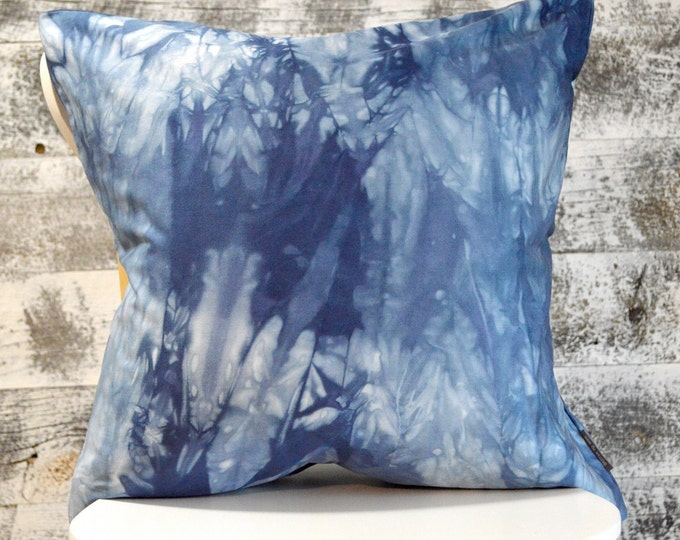 Marbled Marine Navy Shibori Pillow Cover