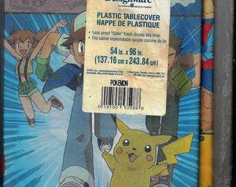 Vintage 1976 Pokémon Designware Plastic Party Tablecloth  New Old Stock  in Bag