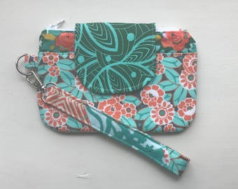 Wristlet Wallet, Cell Phone Clutch