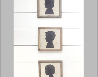 Three Custom Silhouettes