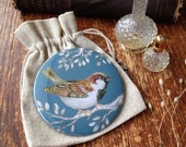 Sparrow Pocket Mirror