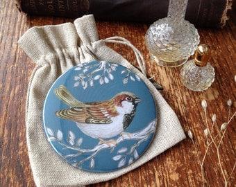 Sparrow Pocket Mirror
