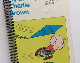 Charlie Brown and Snoopy Classic Vintage Book journal notebook Recycled Spiral Bound