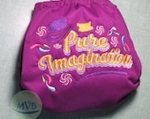 "Cloth Diaper Embroidery ""Pure Imagination"""