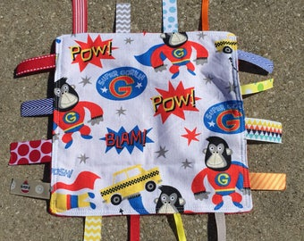 Super Gorilla Tag Blanket with your choice of Minky // In Stock, READY TO SHIP