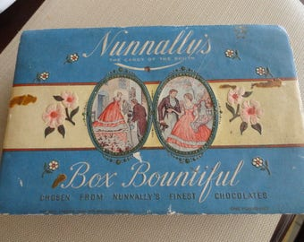 Vintage Nunnally's Candy Box  the candy of the south