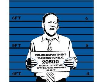 lock them up 1 of 3. - 11x17 art print.
