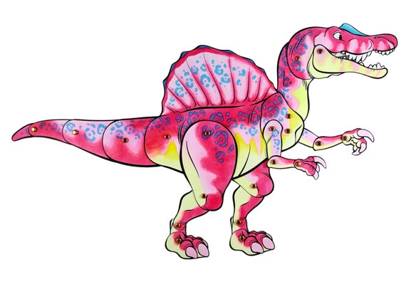Spinosaurus Paper Doll DIY and Young Adult Digital Download Dinosaur Craft