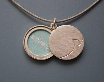Initial locket sterling silver picture locket personalized locket modern locket