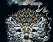 Hoary Hedgehog - Signed Giclée Print