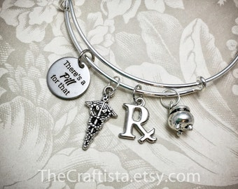 RXB, Pharmacist Bangle, Pharmacist Jewelry, Pharmacy Tech Gift, Rx Bangle, Pharmacy Tech Bangle, Gift for  Pharmacy Student, Pharmacy Tech
