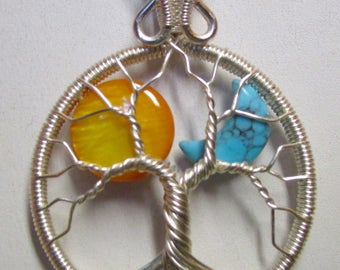 Tree of Life, The Sun and the Moon Tree of Life, Sun and the Moon Necklace, Sun and Moon Jewelry