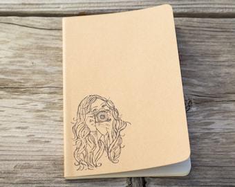 Hipster Photographer Girl Journal Notebook
