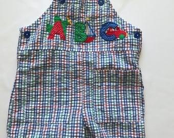 Vintage alphabet jon jon romper 3-6 months
