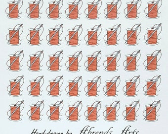Sewing/Tailor/Quilting Planner/Journal/Bullet Journal Stickers