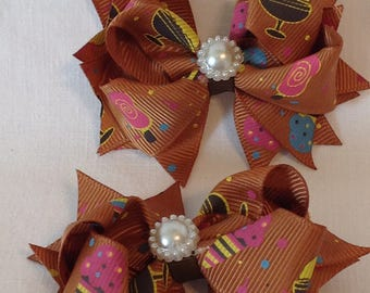 Pinwheel Hairbows/Baby Hairbows/Girls Hairbows/ Basic Hairbows/Boutique Hairbows