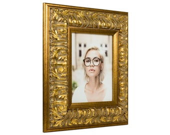 """Craig Frames, 13x19 Inch, Antique Gold Picture Frame, Barroco, 3.6"""" Wide (80801319)"""