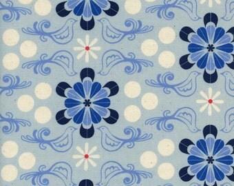 PRESALE - S.S. Bluebird - Diner in Blue - Cotton + Steel - 5098-01 - 1/2 yard