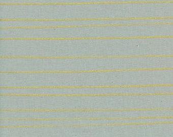 Cozy - Pencil Stripes in Grey Metallic - Alexia Abegg for Cotton + Steel - (5149-3) - 1/2 Yard