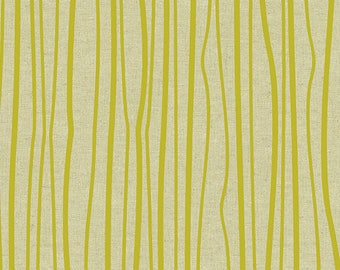 PRESALE - Diving Board - Seagrass on Tailored Cloth in Chartreuse (Linen Blend) - Alison Glass for Andover - ALN-8640-G - 1/2 yd