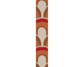 Geometric 49 Peyote Bead Pattern, Bracelet Pattern, Bookmark Pattern, Seed Beading Pattern Delica Size 11 Beads - PDF Instant Download
