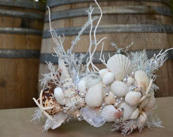 Bridal Crown - Mermaid Crown - Shell Crown - Festival Crown - Bridal Headpiece - Mermaid Costume. READY TO SHIP